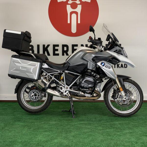 Pilt: mootorratas BMW R1200 GS 2014 kohvritega